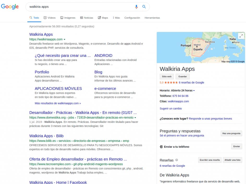 Captura de pantalla que muestra la potencia de Google Business si se aprovecha bien.