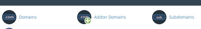 Vista del cpanel para crear un espacio para el dominio si quieres migrar wordpress a otro servidor